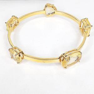 Kate Spade Bracelet Gold Large Geometric Crystals